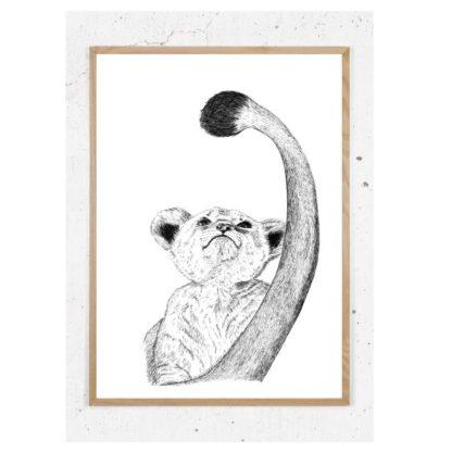 Plakat med løveunge