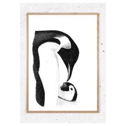 Plakat med pingvin
