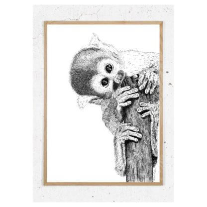 Plakat med dødningehovedabe
