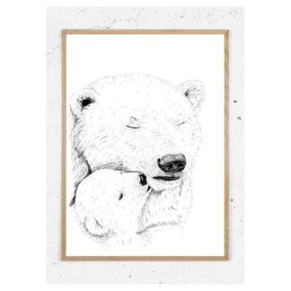 Plakat med isbjørn