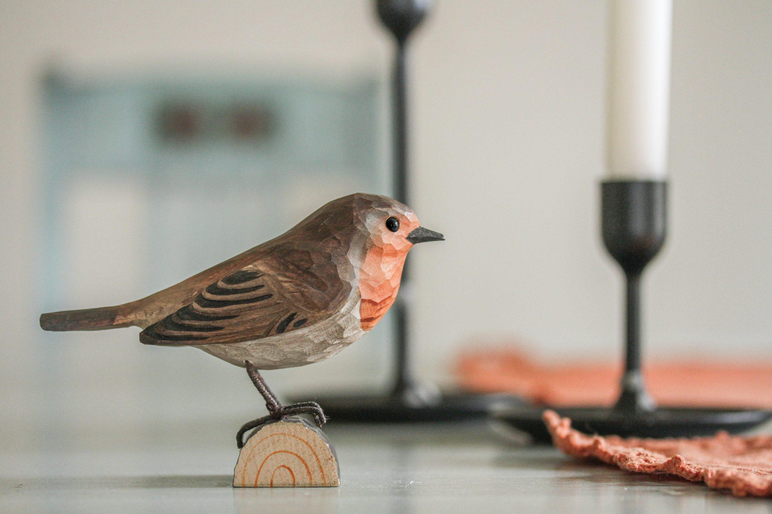 Wildlife Garden deco bird - rødhals